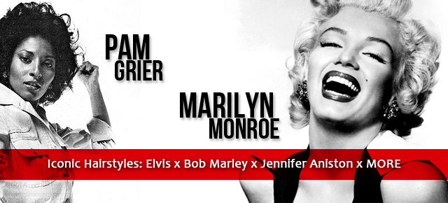 pam grier marilyn monroe bov marley iconic hairstyles