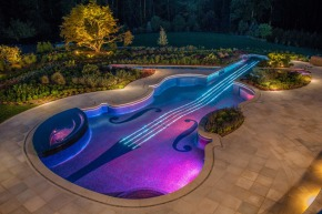 This Custom Swimming Pool is PERFECT for MUSICIANS!