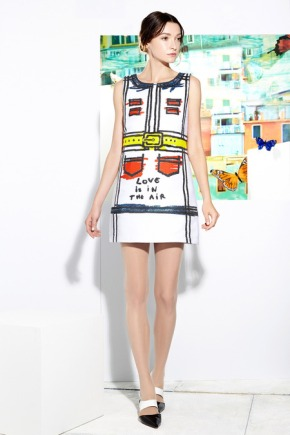Alice + Olivia Resort 2015: Hand-sketched patterns and zesty print