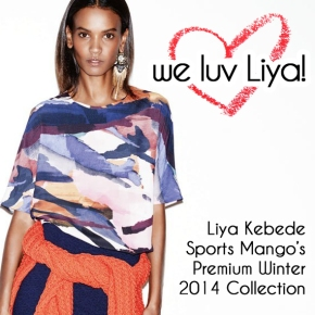 Liya Kebede looks OMG-FABULOUS in Mango's Premium Winter 2014 Collection!!!