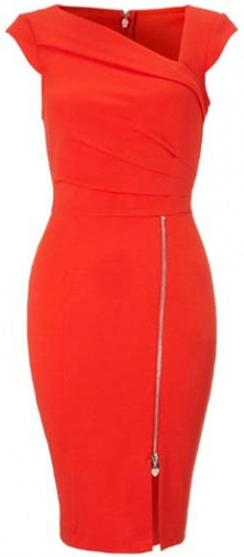 Catching_Cap_Sleeve_Zipper_Design_Red_Bodycon_Dress___Rosewe_com