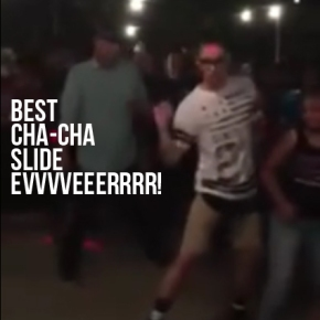Man killed it dancing to Cha-ChaSlide