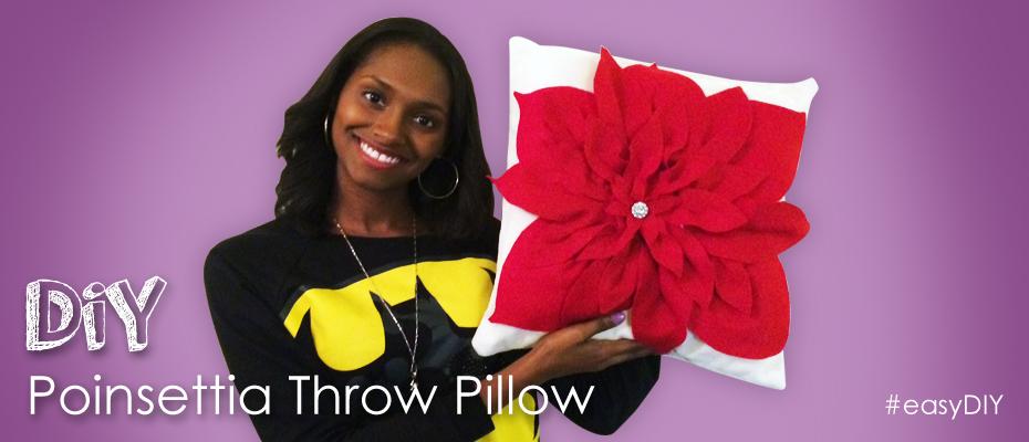 poinsettia pillow alliexperience 2